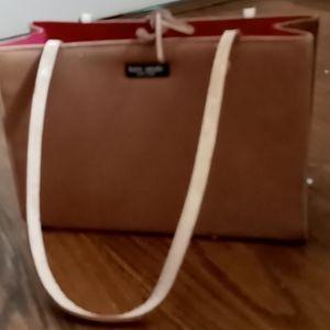 Camel colored suede Kate Spade bag